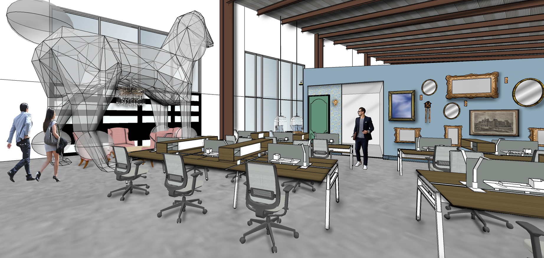 For this HQ, a 20-Foot Tall Poodle Sculpture is Part of the Plan